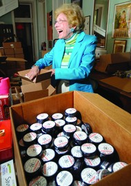 Vivian Smith Clipp, president of the Rosebud Perfume Co. in Woodsboro, packages customers' orders. [credit: fredericknewspost.com]