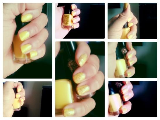 Glittery Gold Polish