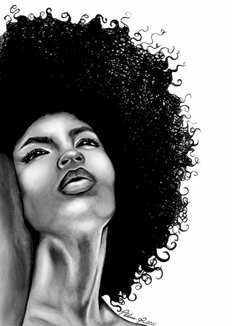 Natural Hair Large Fine Art Print - Lola by thatArtista on Etsy