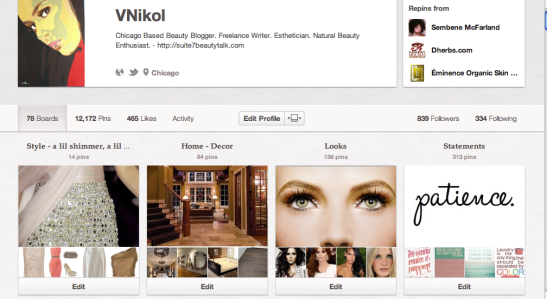 VNikol Pinterest Profile