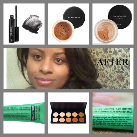 My finished look... 6 products..