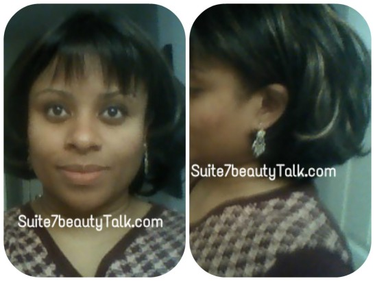 My first ever & short-lived wig experiment. I liked the highlights & layered cut, but it felt like I was wearing a hat.