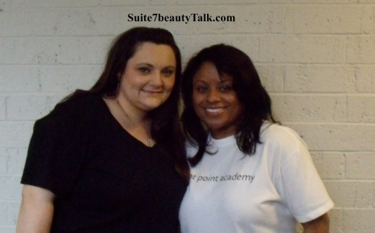 Month 4 of my weave experiment, at school with my Esthetics instructor & mentor.