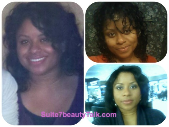 Three textures - natural wavy, freshly washed & flat ironed with loose curls. I liked the versatility the weave provided.
