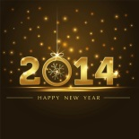 Golden Sky Happy New Year 2014 HD Wallpapers