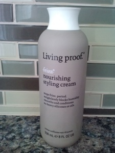 Living Proof Nourishing Styling Cream.... so good, it's ridiculous!